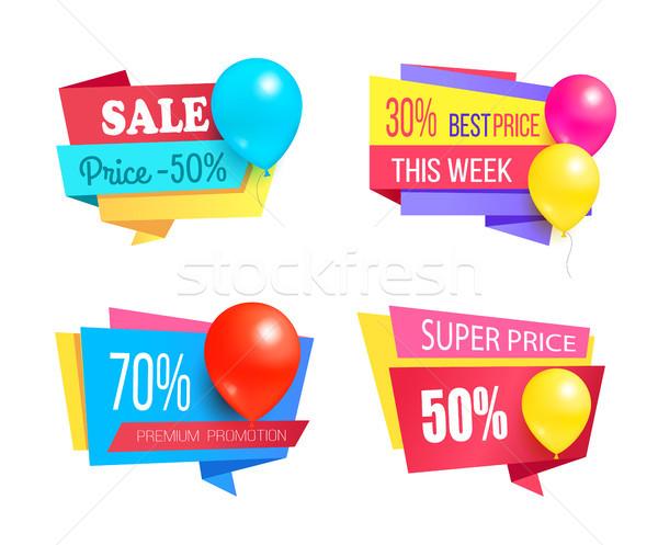 Premia promocji sprzedaży promo balony Zdjęcia stock © robuart