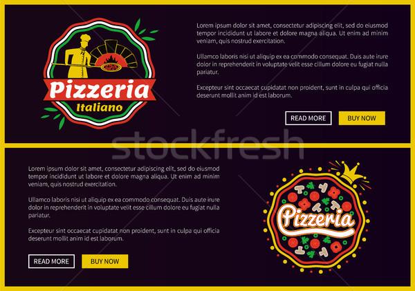 Pizzeria websites ingesteld collectie Stockfoto © robuart
