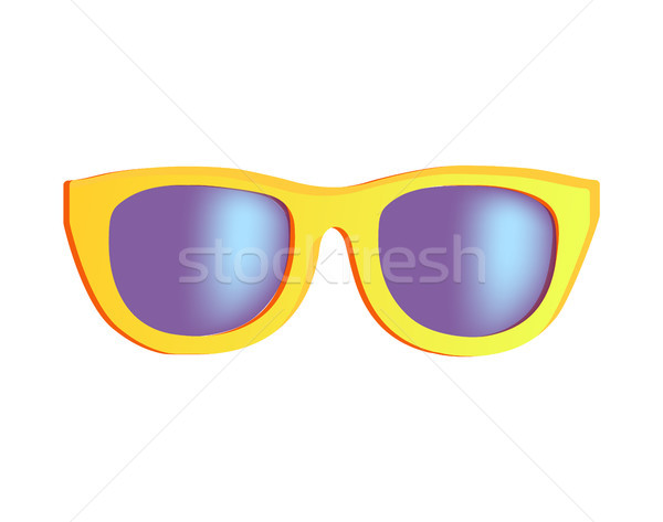 スタイリッシュ サングラス 明るい 黄色 プラスチック リム ストックフォト © robuart