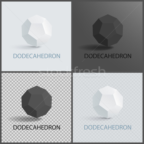 Dodecahedron Three-Dimensional Shape Plane Faces Stock photo © robuart