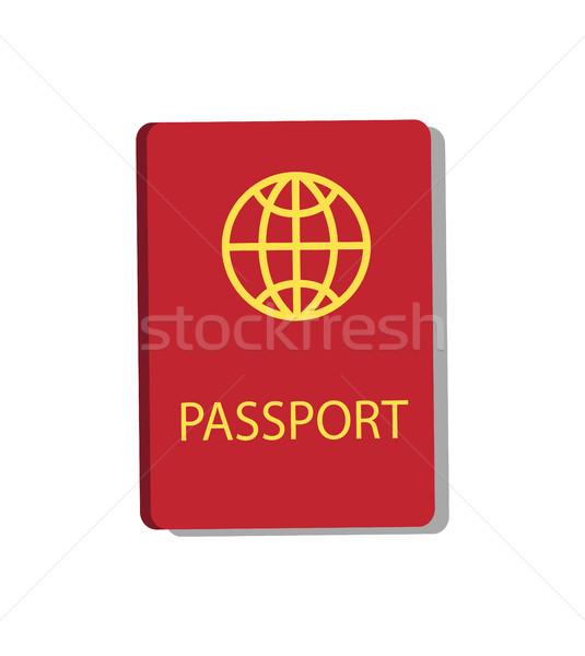 Passport Personal Document Vector Illustration Stock photo © robuart