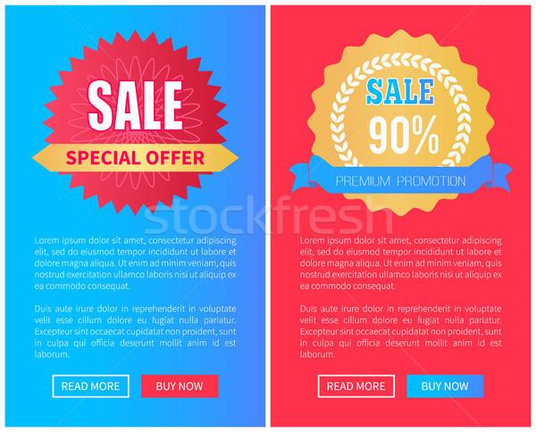 Venta prima promoción establecer Foto stock © robuart