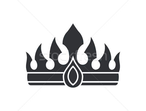 Crown with Gem and Sharp Spires in Gothic Style Stock photo © robuart
