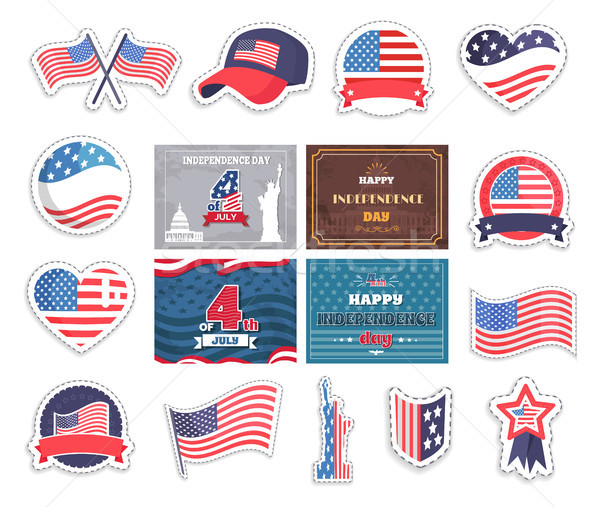 Fourth of July Happy Independence Day in America Stock photo © robuart
