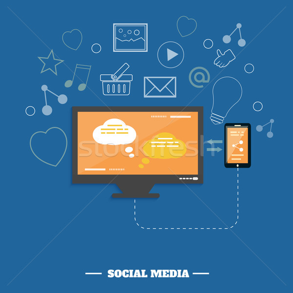 Business software and social media networking service concept Stock photo © robuart