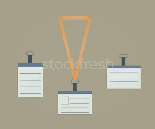 Retractor, lanyard and badge Stock photo © robuart