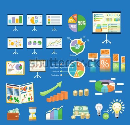 Digital comercialización financiar interacción líneas blanco Foto stock © robuart