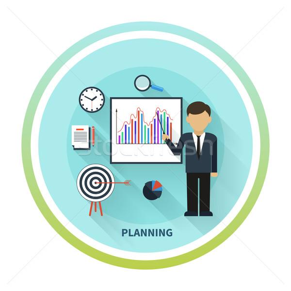 üzlet konferencia bemutató terv üzletember bemutat Stock fotó © robuart