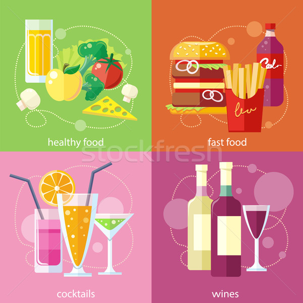 Koktélok egészség étel gyorsételek szőlő koktél Stock fotó © robuart