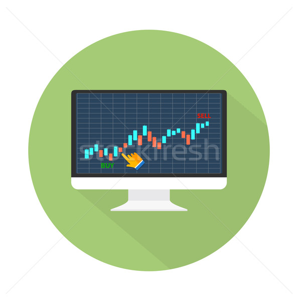 Data analyzing in forex market Stock photo © robuart
