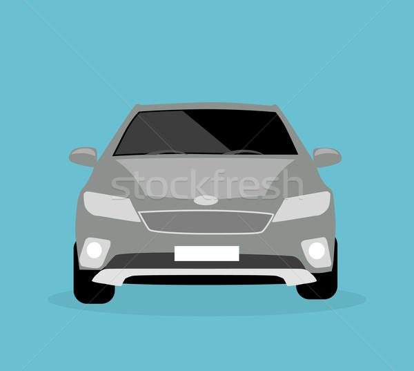 Autó ikon tárgy szürke autó stílus Stock fotó © robuart