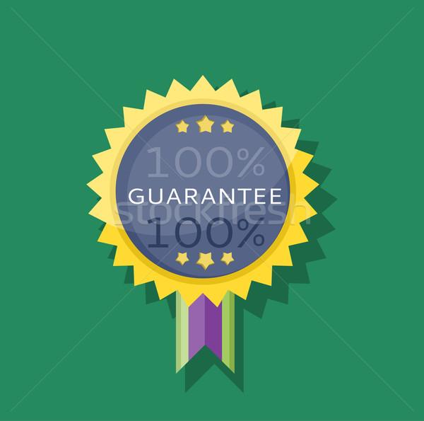 Odznakę naklejki gwarantować projektu gwarancja ikona Zdjęcia stock © robuart
