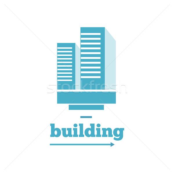 Building Logo Sign Design Flat Stock photo © robuart