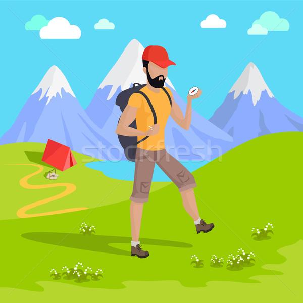 Mountain Tourism Concept Stock photo © robuart