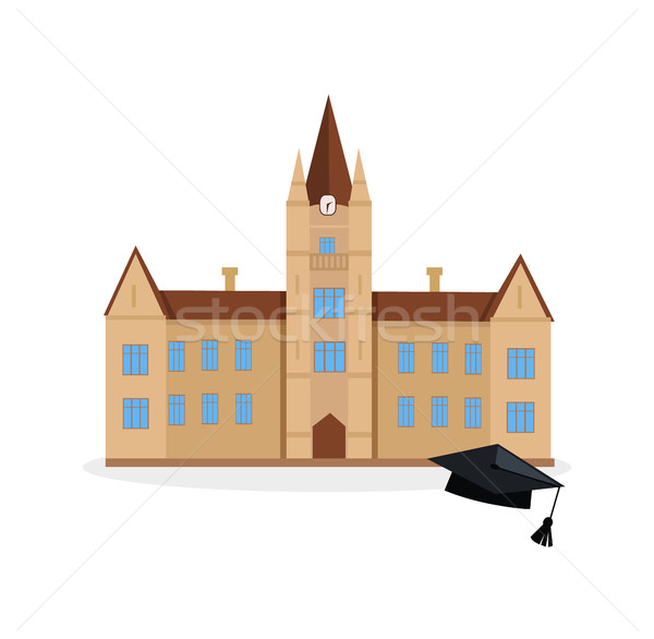 School and university building icon Stock photo © robuart