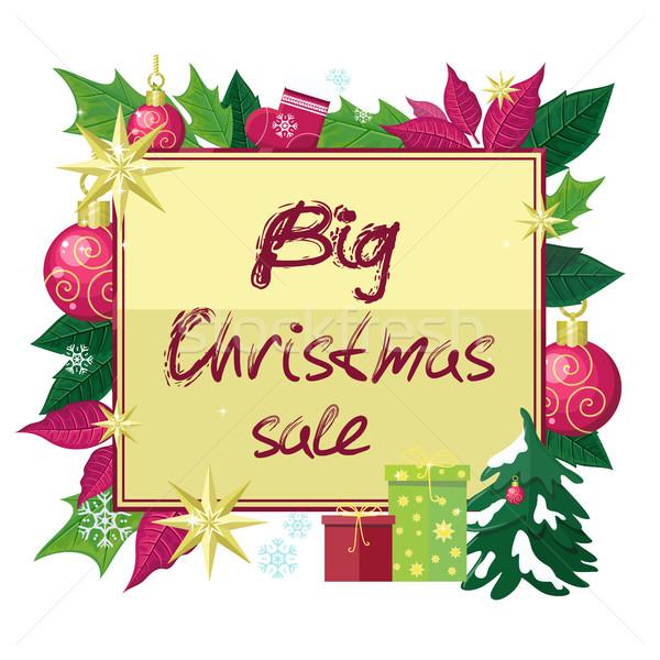 Nagy karácsony vásár vektor stílus terv Stock fotó © robuart