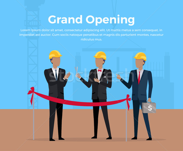 Grand Opening Concept Vector Illustration Stock photo © robuart
