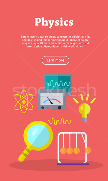 Physics Web Banner. Website template. Stock photo © robuart