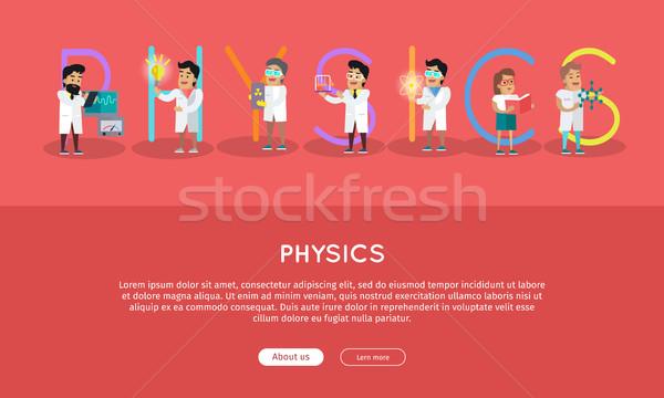 Physique bannière science alphabet vecteur Photo stock © robuart