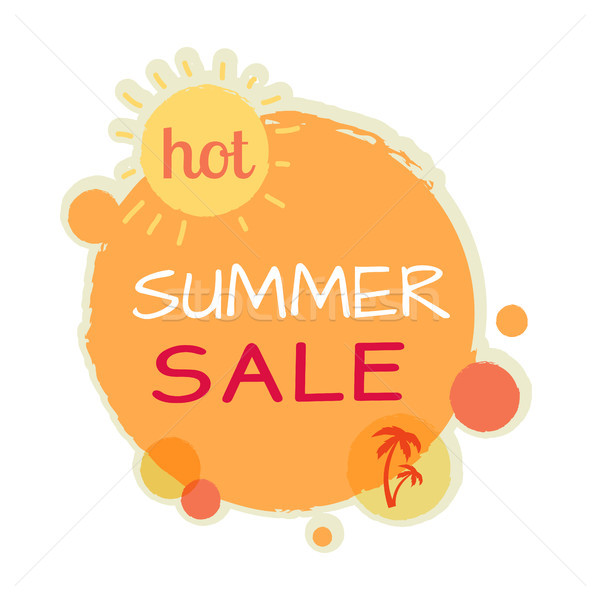 Hot Summer Sale Round Banner. Best Quality Price Stock photo © robuart