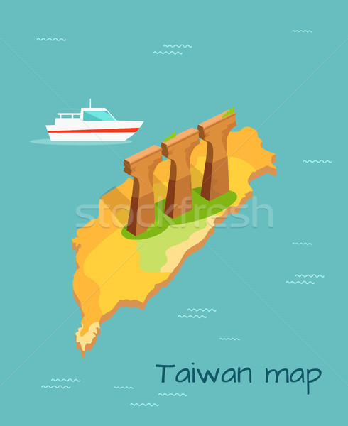 Three Stone or Concrete Supports in Taiwan Island Stock photo © robuart