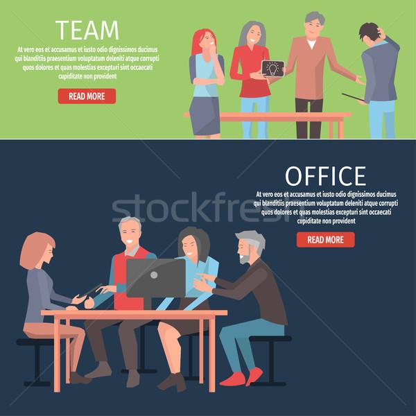 Informazioni squadra ufficio illustrazione leggere più Foto d'archivio © robuart