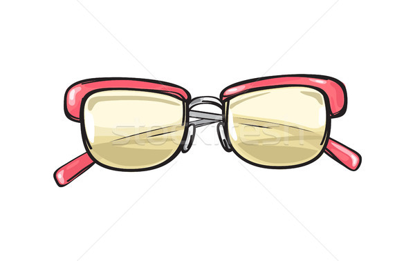 Fashionable Glasses with Coral Frame Illustration Stock photo © robuart