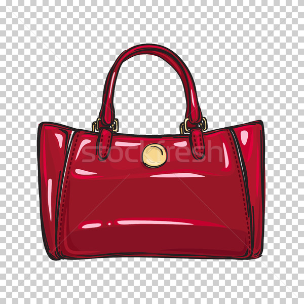Mode glänzend rot Tasche isoliert Illustration Stock foto © robuart