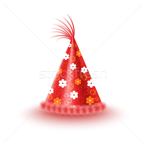 Festive Cap With Flowers Isolated Illustration Stock photo © robuart