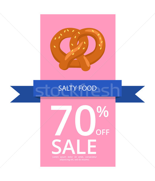 Salty Food 70 Off Sale on Vector Illustration Stock photo © robuart