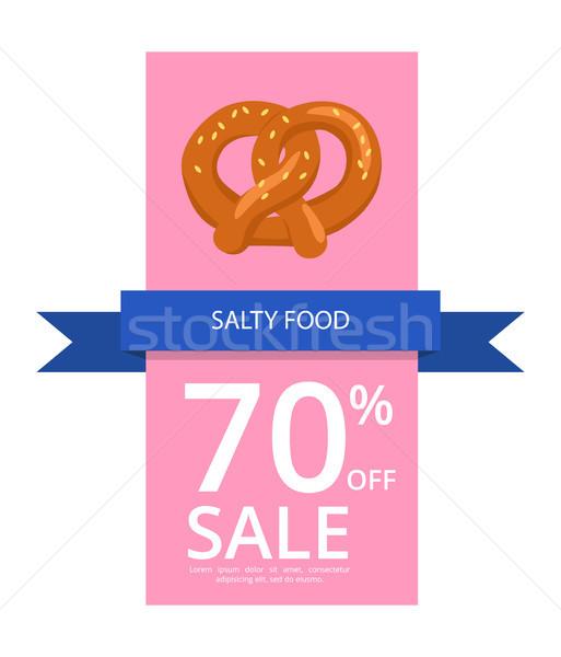 Salzig Essen aus Verkauf geschrieben blau Stock foto © robuart
