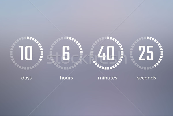 Days Hours Minutes Seconds Vector Illustration Stock photo © robuart