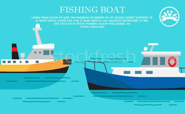 漁船 海 交通 貨物 貨物船 ストックフォト © robuart
