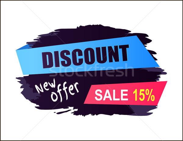 Indirim satış 15 yeni teklif Stok fotoğraf © robuart