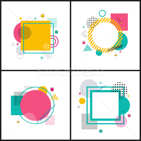 Set Colorful Abstract Frames on Illustration Stock photo © robuart