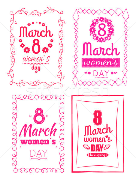 8 March Women s Day Collection Posters Invitation Stock photo © robuart