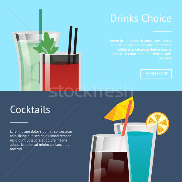 Drinks Choice Cocktail Poster Set with Bloody Mary Stock photo © robuart