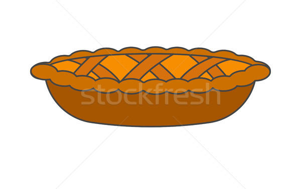 Tasty Pie Decoration Dough Weaving Realistic Icon Stock photo © robuart
