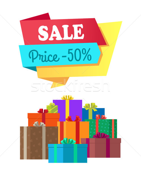 Sale Price 50 Half Cost Special Exclusive Offer Stock photo © robuart