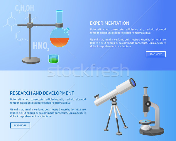 Experimentation Research and Development Web Stock photo © robuart