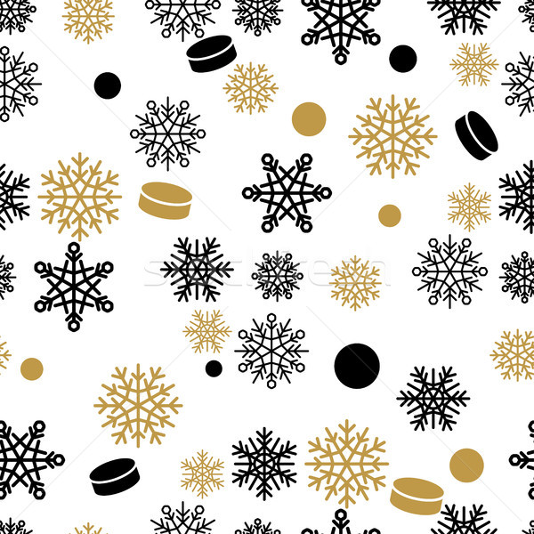 Snowflakes and Cake Vector Seamless Pattern Stock photo © robuart