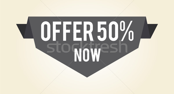 Offer 50 Now Hot Proposition Vector Illustration Stock photo © robuart