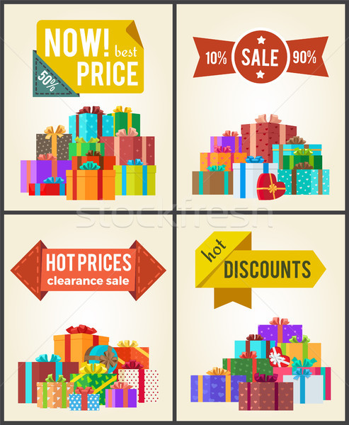 Now Best Prices Hot Discounts Clearance Sale Set Stock photo © robuart