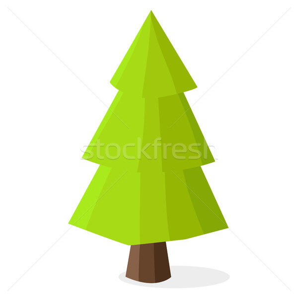 Green Christmas Tree with Heavy Dark Brown Trunk Stock photo © robuart