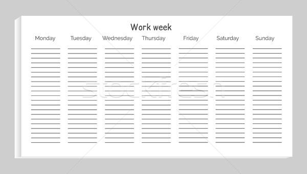 çalışmak hafta hatları doldurma kendi Stok fotoğraf © robuart