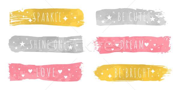 Błyszczący luksusowe kolory slogan złota Zdjęcia stock © robuart