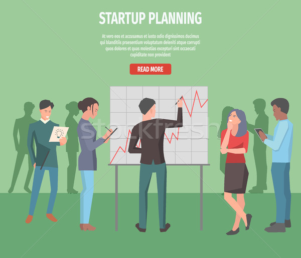 Startup Planning Internet Info Page Illustration Stock photo © robuart