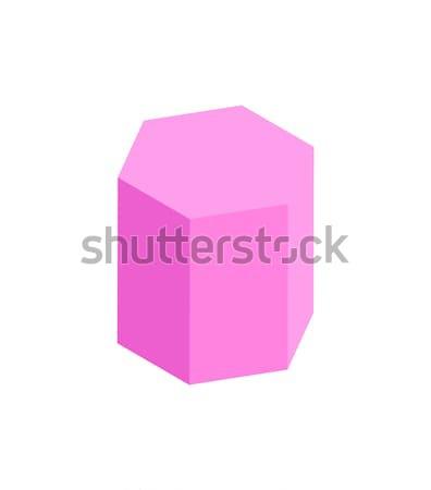 Prisma geometrica figura colore modello isolato Foto d'archivio © robuart