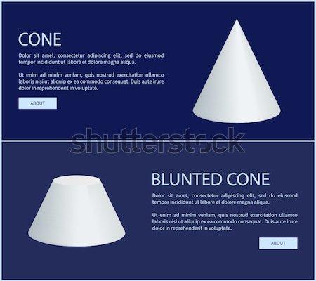 Küre ayarlamak piramit koni silindir Stok fotoğraf © robuart