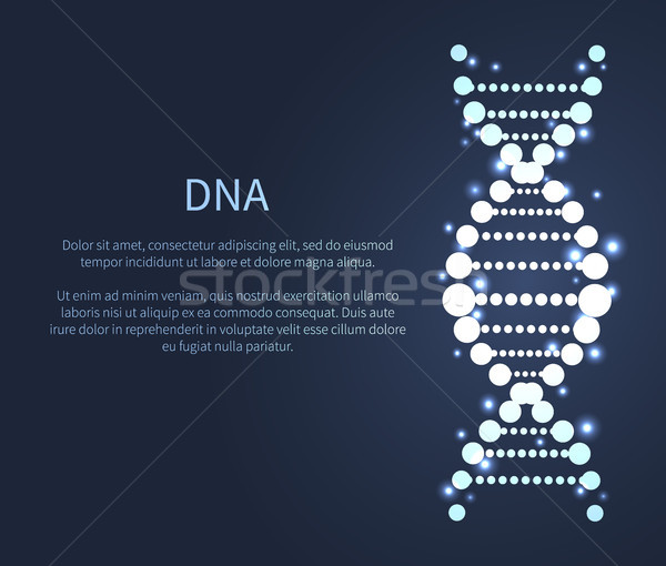 DNA Glittering Icon, Deoxyribonucleic Acid Chain Stock photo © robuart